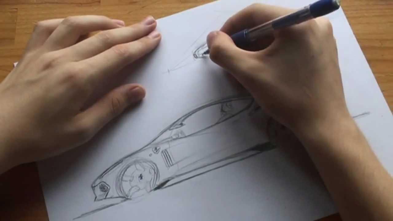 Cmo dibujar y disear coches  FERRARI  YouTube