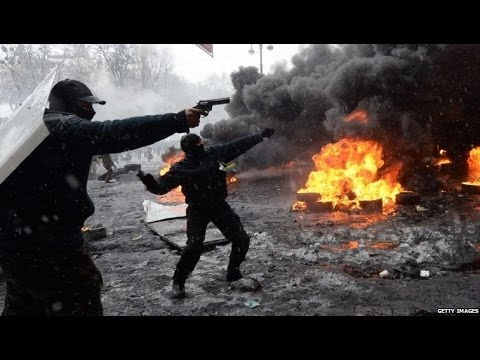 PM MYKOLA AZAROV 'PROVOCATEURS RESPONSIBLE NOT POLICE' FOR 2 DEATHS IN LIEV CLASHES - BBC NEWS
