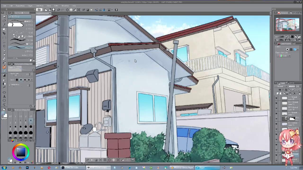 clip studio paint let s paint anime background japanese