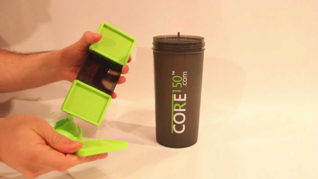 Core150 best protein shaker bottle with triple storage and 100ML