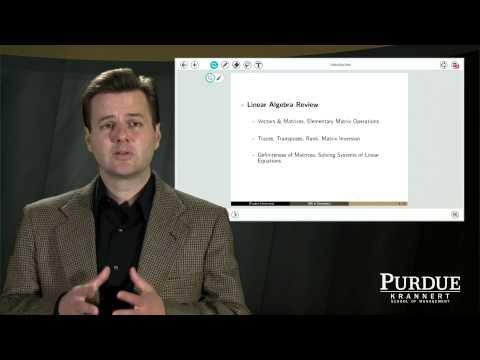 Purdue University Online MS Degree in Economics: Justin Tobias Discusses Econ 571