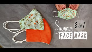 2 in 1 summer face mask Very Easy New Style Pattern Mask Face Mask Sewing Tutorial