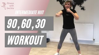 90 60 30 | HIIT workout | home workout | intermediate-advanced level |
