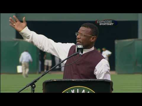 Rickey Henderson Number 24 Retired at Oakland Coliseum August 1, 2009