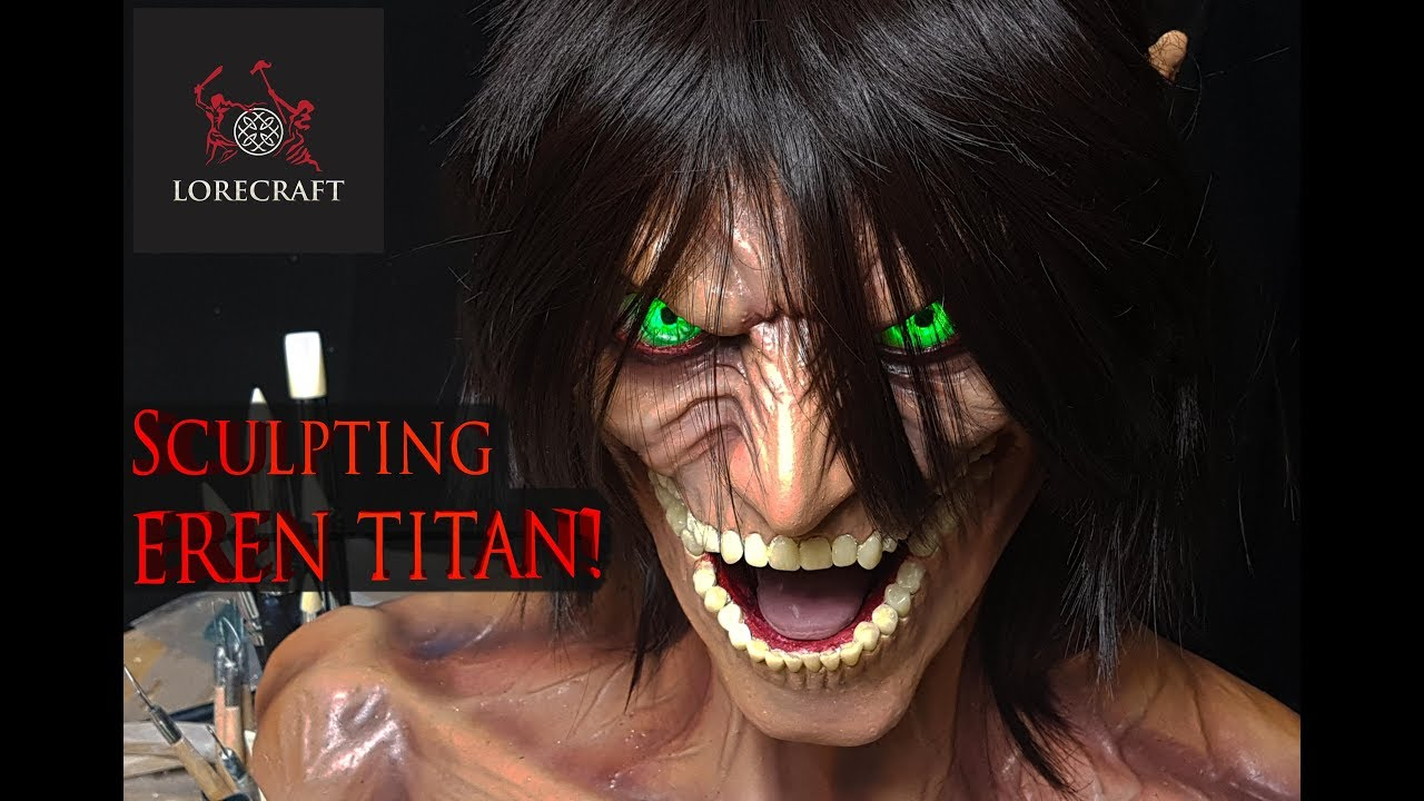 Sculpting Eren Titan - Attack on Titan - Shingeki no Kyojin - Timelapse Sculpt and Airbrush Demo