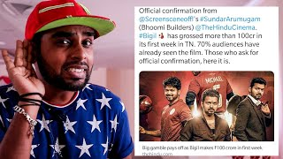 Official:Bigil Box Office Report By Ags | Bigil Collection With Proof |Bigil Removed From Theatres?