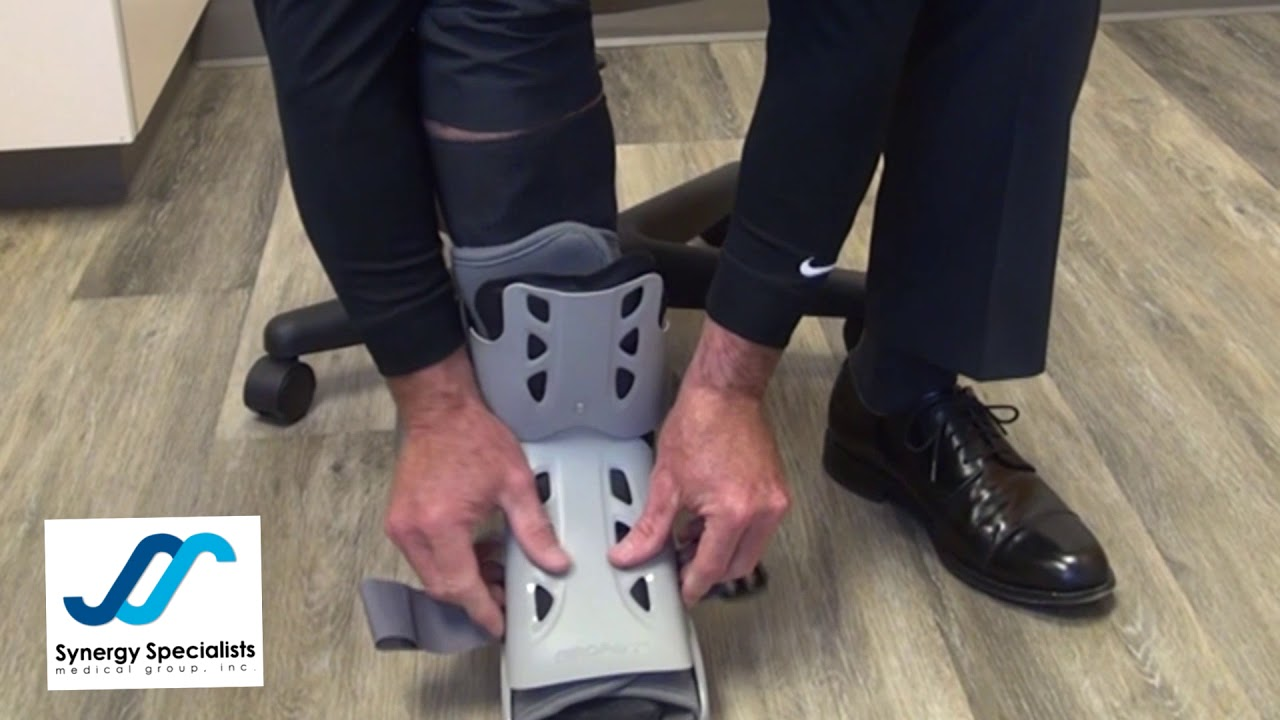 Hot To Put on and Wear Aircast Walking Boot