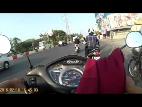 SJCAM4000 Wifi - Test Chest mount - Ho Chi Minh City Street