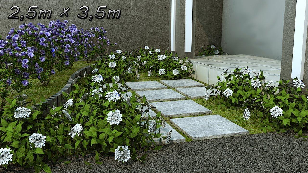 Proses Desain Taman Depan Rumah Minimalis Lahan Sempit Inspirasi Desain Taman Minimalis 2 5x3 5m