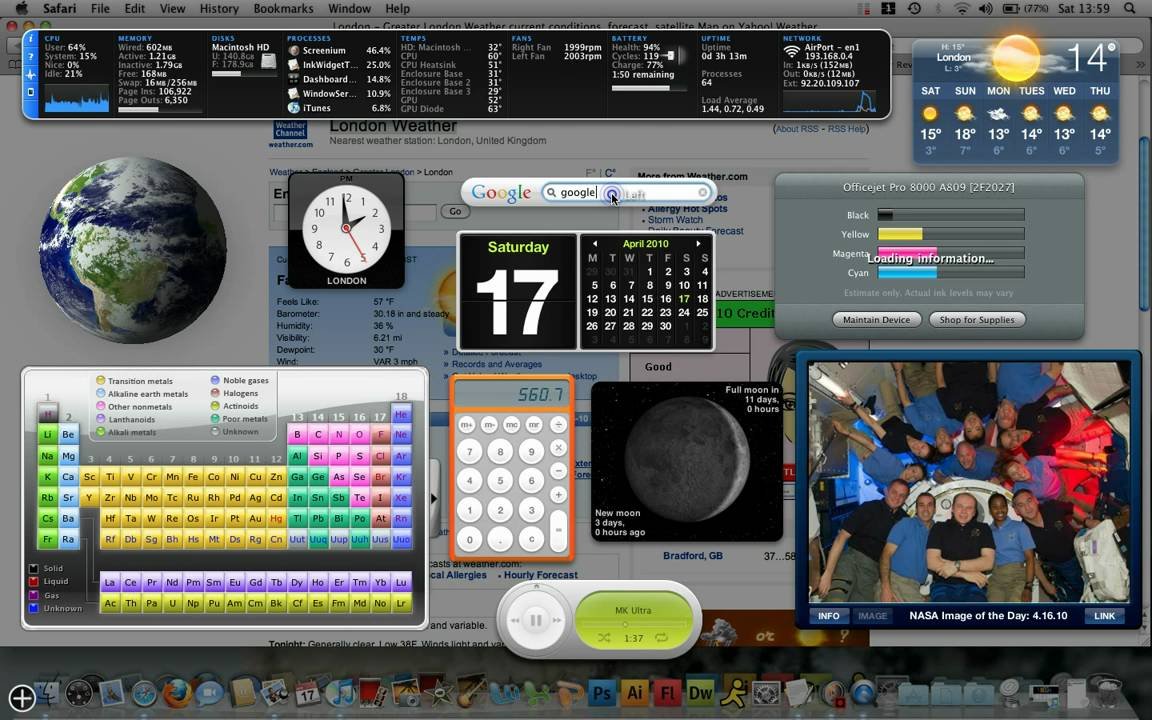 Mac widget adult