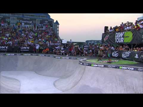 Nolan Munroe Superfinals Run 2 Crash - Dew Tour Ocean City Skateboard Bowl Finals