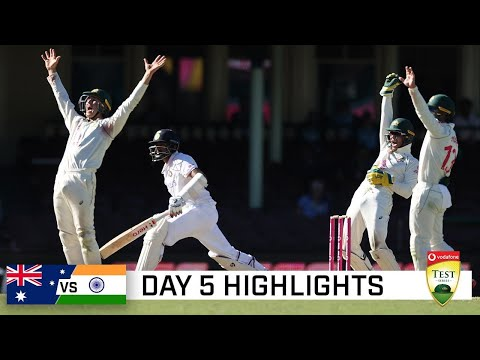 Brave India pull off the great escape at the SCG | Vodafone Test Series 2020-21