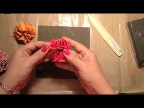 Stampin up video tutorial make paper flowers with punches youtube stampin up video tutorial make paper flowers with punches mightylinksfo