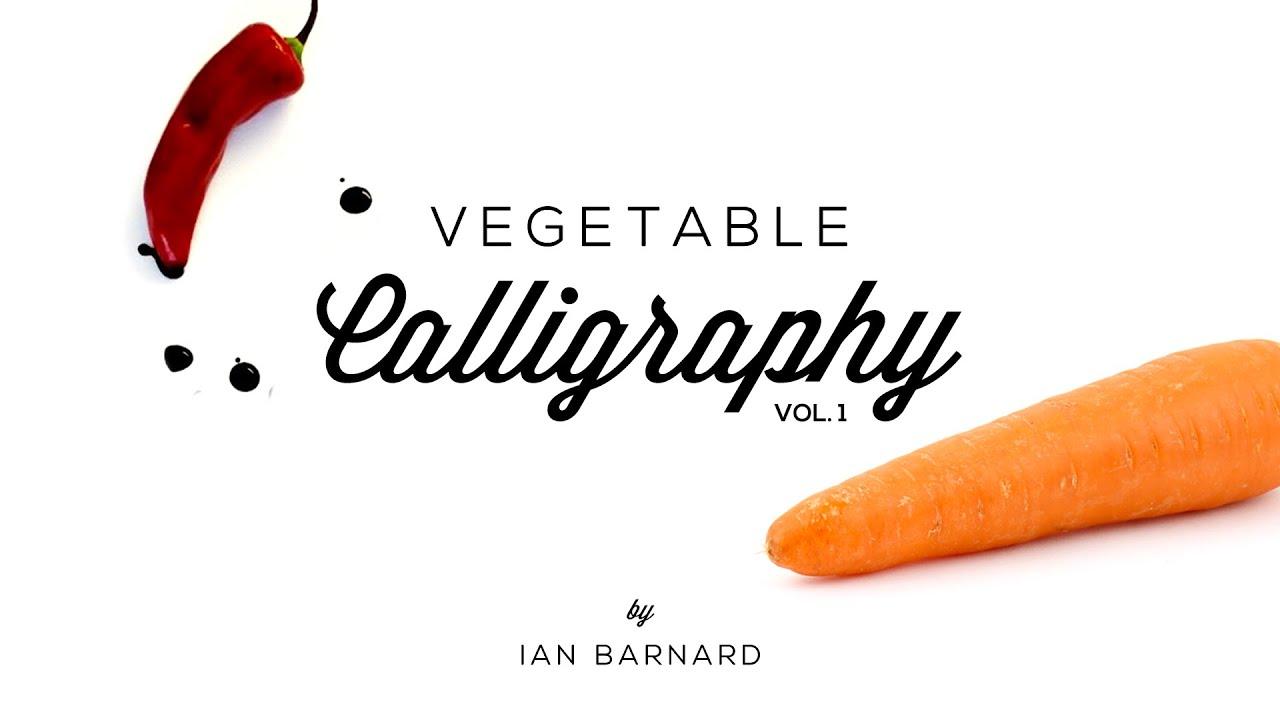 Caligrafía con verduras