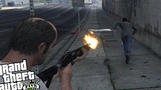 GTA 5 PC - Bean Bag Shotgun Round MOD (Nonlethal Shotgun Round)