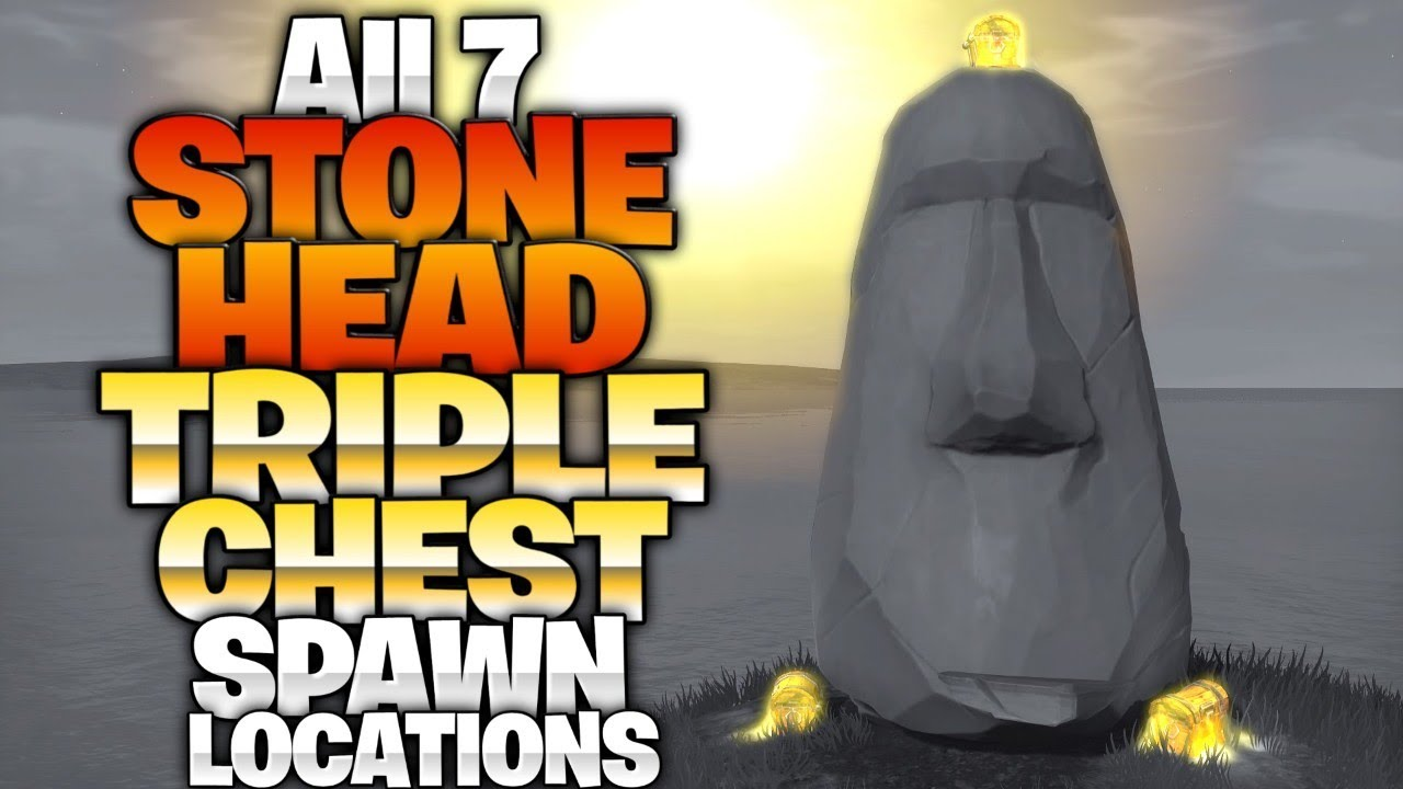 Visit Different Stone Heads Triple Chest Landing Spots All 7