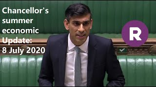 """Rishi Sunak: Government has clear goal to """"protect, support and create jobs"""""""