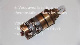 Nettoyer ou changer  le thermostatique d'une colonne de douche SCHULTE