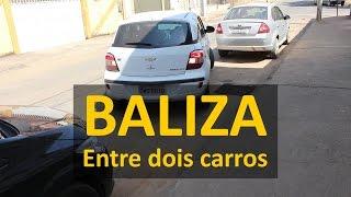 BALIZA ENTRE DOIS CARROS - Como fazer uma baliza entre dois carros
