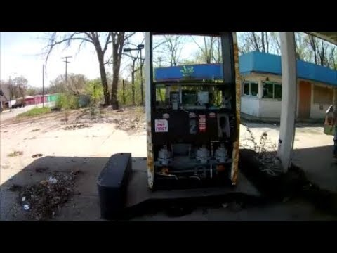 Notorious Sites of Gary, Indiana - Glen Park Gas Station Litter & Ruins
