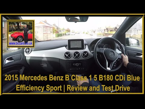 Virtual Video Test Drive in our Mercedes Benz B Class 1 5 B180 CDi Blue Efficiency Sport 5dr 2015