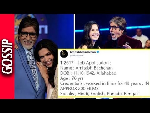 Amitabh Bachchan's Job Application to Become Deepika & Katrina's Hero