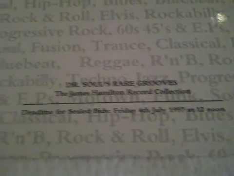 """James Hamilton: Bonham's Chelsea Catalogue (1997) - """"Dr. Soul's Rare Grooves"""""""