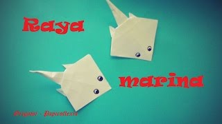 Origami - Papiroflexia. Raya de mar de papel, fácil de hacer