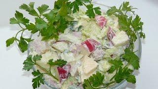 Нежный салат на каждый день!🎄🎅 Салаты быстрого приготовления! Салаты с пекинской капустой