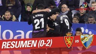 Resumen de Real Zaragoza vs Málaga CF (0-2)