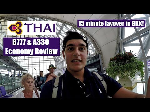 16 Hours in Thai Airways Economy + 15 Minute Layover in Bangkok!