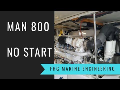 MAN 800 Marine Diesel Won't Start