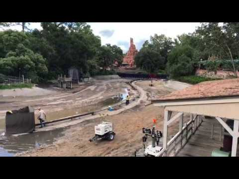 Rivers of America Drained, Liberty Square Riverboat Refurbishment at the Magic Kingdom 2018