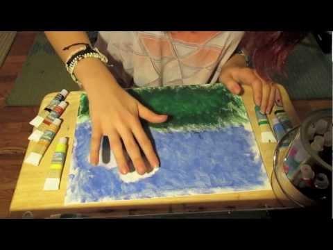Relaxing Finger Painting ASMR