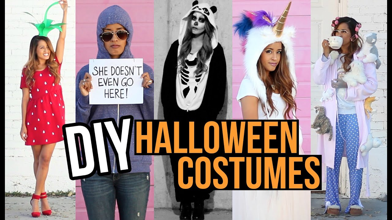Last Minute DIY Halloween Costumes! Unique + Creative Ideas | Ariel Hamilton - YouTube  sc 1 st  YouTube & Last Minute DIY Halloween Costumes! Unique + Creative Ideas | Ariel ...