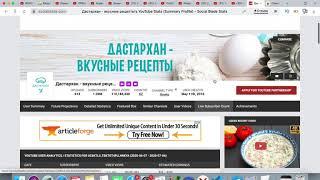 Доход канала Дастархан - вкусные рецепты. Svetlana Müller