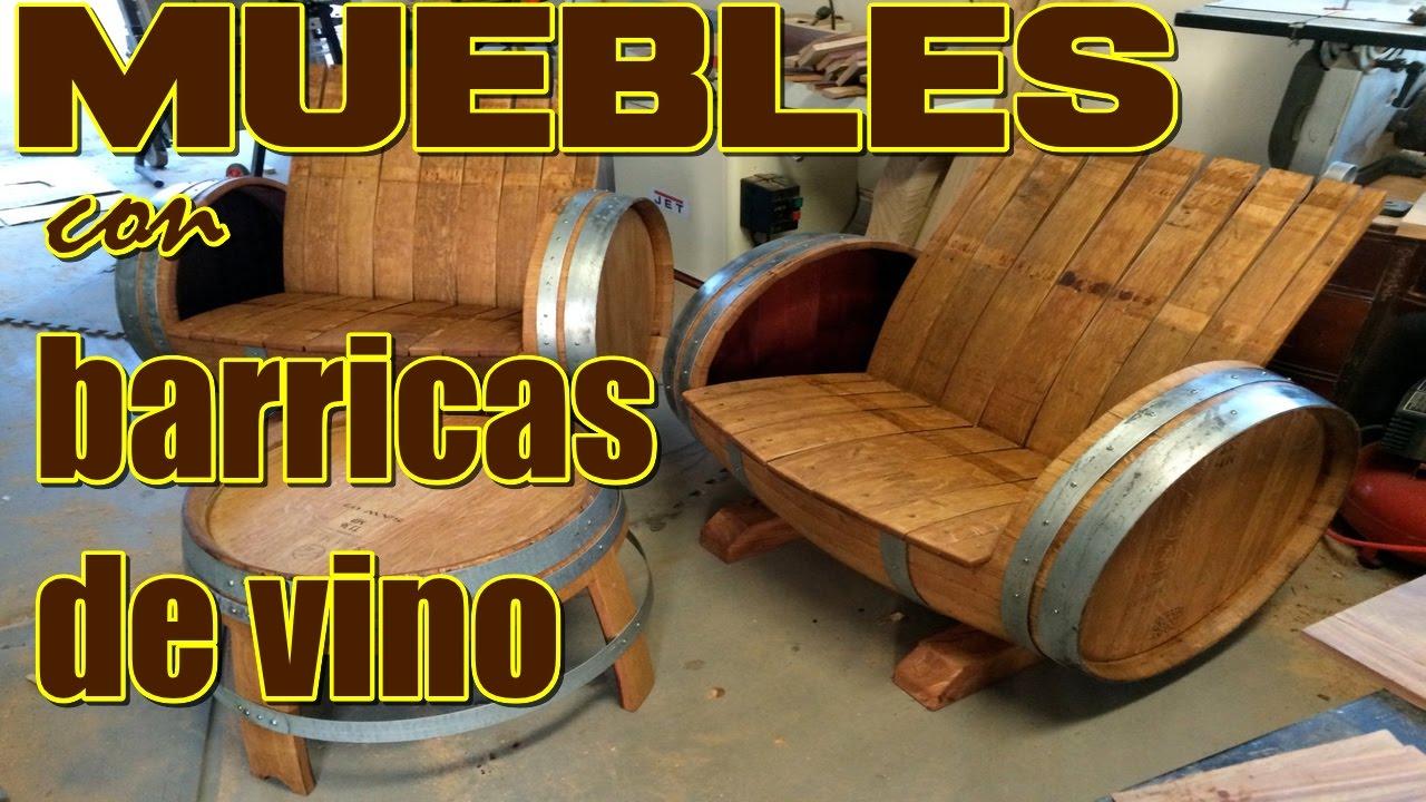 de89e32dd0636 Muebles con barricas de vino  Hacemos muebles de barril - YouTube
