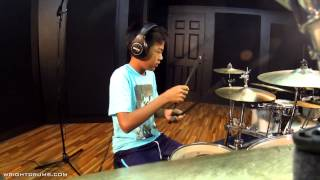 Wright Drum School - Blues Brothers - Shake Your Tail Feather by Yuno Mitsui - Drum Cover