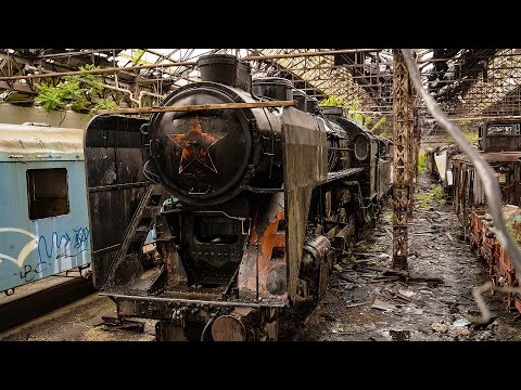 Mighty Abandoned Soviet Relics - Jets & Steam Train Graveyard