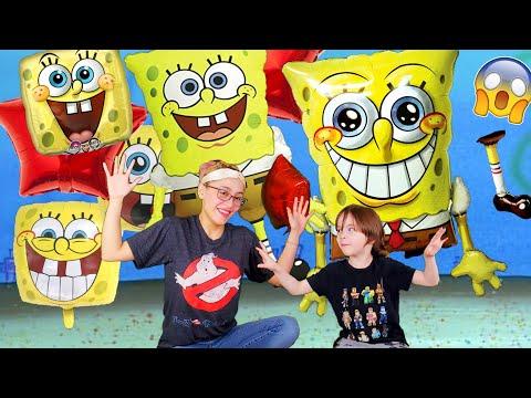 Giant Spongebob Squarepants Balloon | He POPPED! Airwalker Gliding Helium Inflation! Sun Bleached!