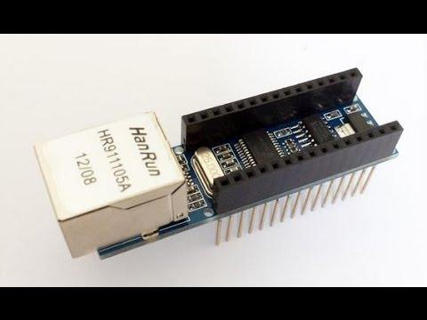 Arduino Nano and Arduino Nano Ethernet Shield ENC28J60 using UIP Ethernet  library