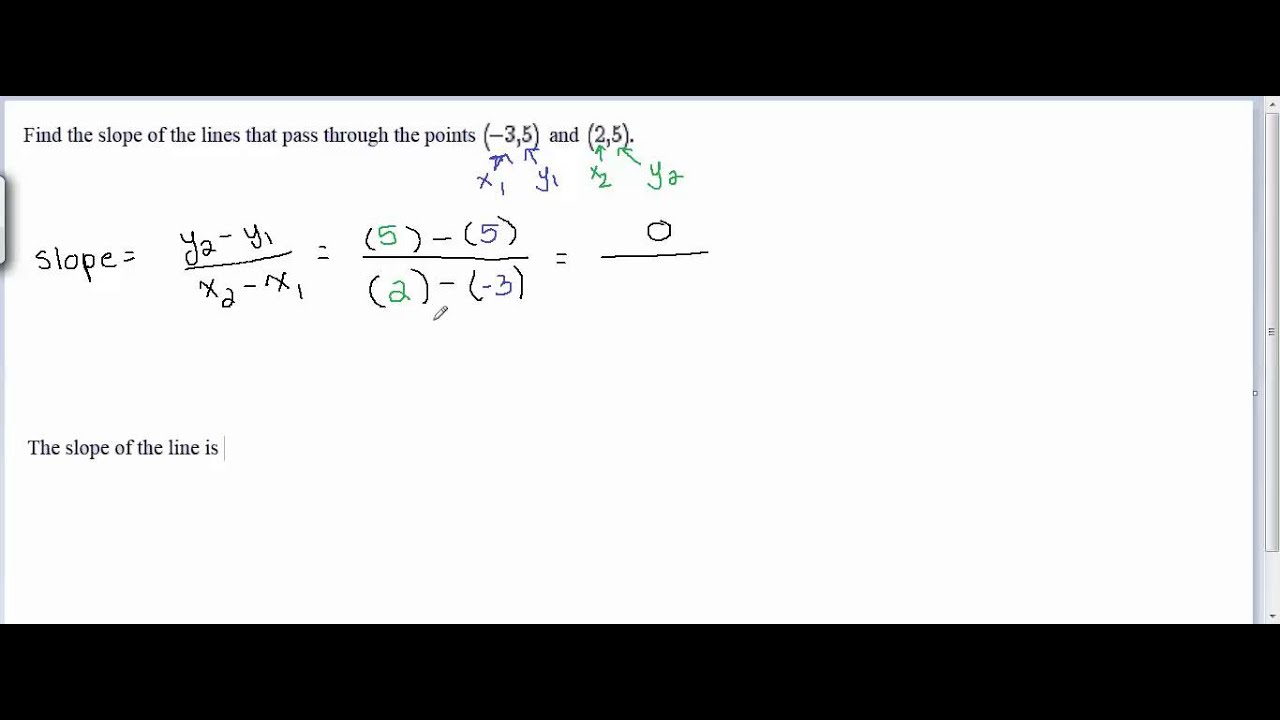 Find the slope of the line that passes through the points 35 find the slope of the line that passes through the points 35 and 25 ccuart Images