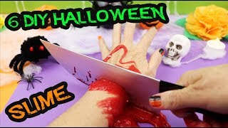 6 DIY HALLOWEEN - TESTING HOW TO MAKE SLIME IN HALLOWEEN | aPasos Crafts DIY
