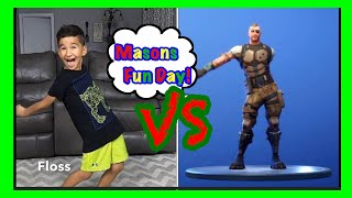 FORTNITE DANCE CHALLENGE IN REAL LIFE with Masons Fun Day!!!!!!