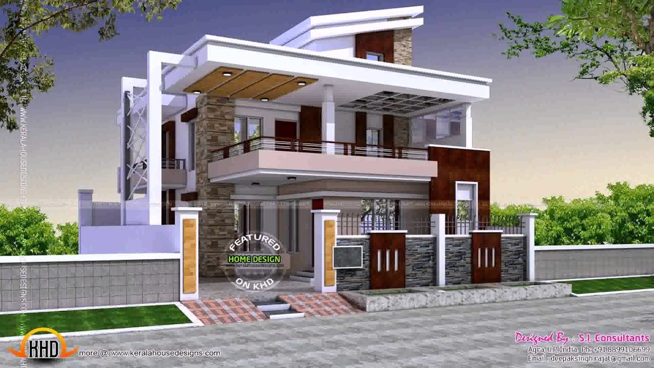 Indian House Designs Photos For Middle Class. Interior Exterior
