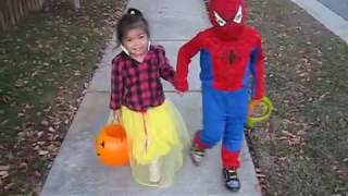 Halloween Cosplay for Kids with Madison & Ethan: Trick or Treat - Classic Spiderman & Snow White