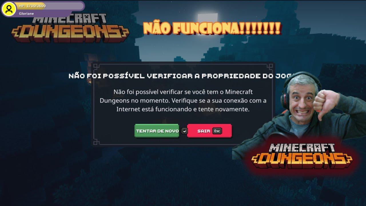 Servidores de Minecraft Dungeons caem na estreia do game - Portugues Brasil