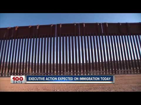 Trump moving forward with border wall, weighs refugee cuts