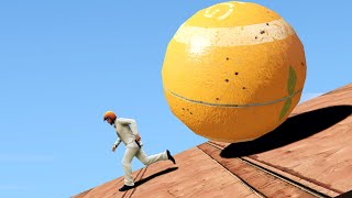 RUN FROM THE ORANGE BALL! (GTA 5 Funny Moments)
