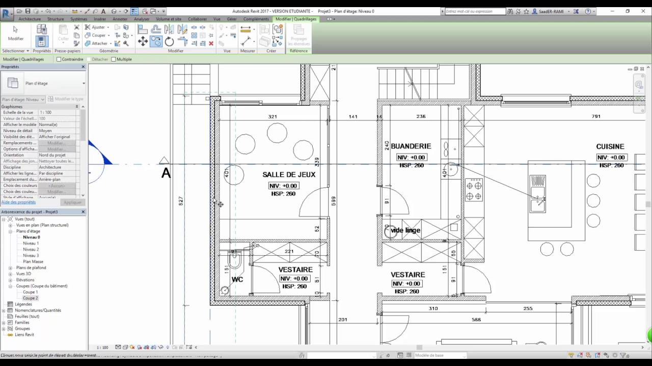 Tutoriel revit architecture 2017 dessiner un plan villa for Architecture 2017